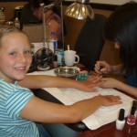 04/12/2008 - Emma's Visit: The girls get a manicure. x